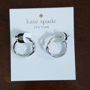 Kate Spade Get Connected Sm Hoop Earrings Silver